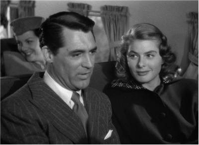 Screenshot of Cary Grant and Ingrid Bergman