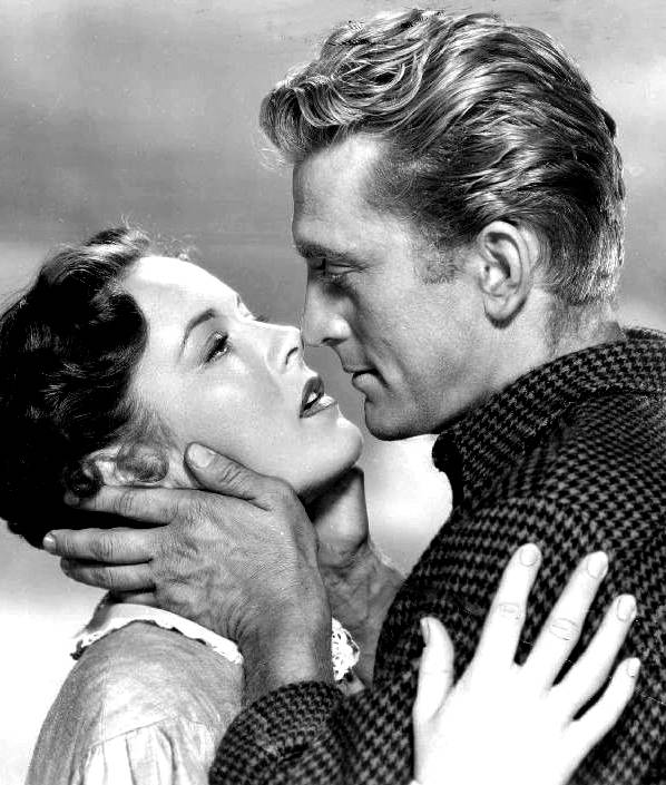 Publicity photo of Kirk Douglas and Eve Miller