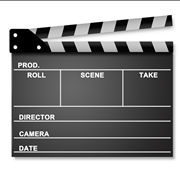 Film clapper with clipping path