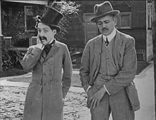 Screenshot of Charlie Chaplin in Making a Living