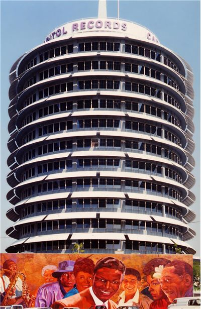 Capitol Records Tower and Hollywood Jazz