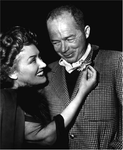 Publicity photo of Billy Wilder and Gloria Swanson