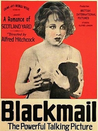 US Window Card for Blackmail featuring Anny Ondra